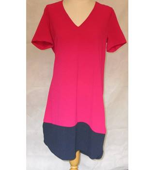 Marks and Spencer M & S -  Cerise Pink Blue - Smock - Dress - Size 12 - BNWOTS