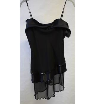 BNWT New Look Black sequinned evening top size 12