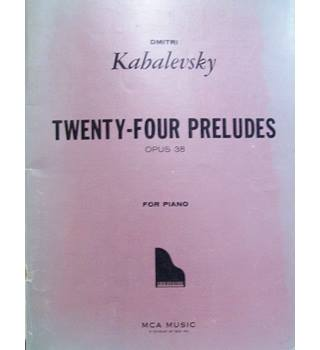 24 (Twenty-Four) Preludes Op. 38 For Piano KABALEVSKY D