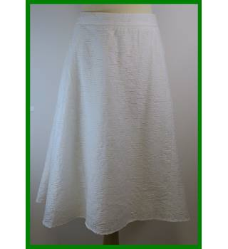BNWT - M&S Marks & Spencer - Size: 22 - Ivory - A-line skirt