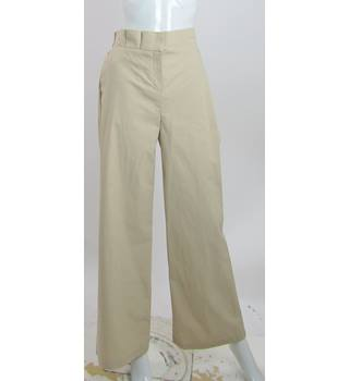 BNWOT M&S Autograph - Size: 14 Long - Camel - High Rise Wide Legged Cotton Trousers