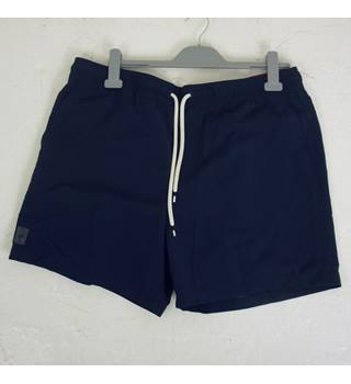 "M & S Size: L, 38"" waist, 5"" inside leg Navy Blue  Casual/Sports Quick Dry Swim Shorts"