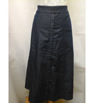 BNWT NEW CC - Size: 14 - Blue soft denim look calf length skirt