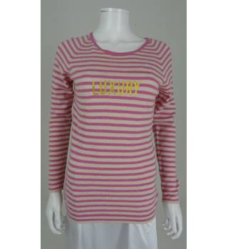 Paul Smith Size M Pink & White Striped Jumper