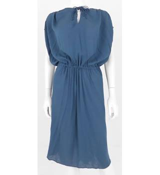 BNWT  AND / OR by John Lewis Dark Petrol Blue Calf Length Dress