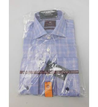 "NWOT M&S Collection Luxury Size 14.5"" Collar Blue White and Red Checked Shirt"