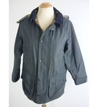 "Barbour Size: L, 28.5 chest, reg length Navy Blue Casual/Country ""Beaufort"" C27 Treated Cotton British Made Jacket"