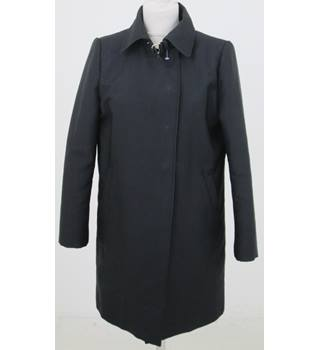 Zara: Size S: Black press stud closure overcoat