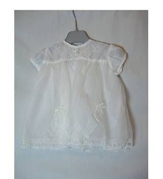 Baby's 1960's Vintage Dress Rob Roy - Size: 0 - 12 months - White