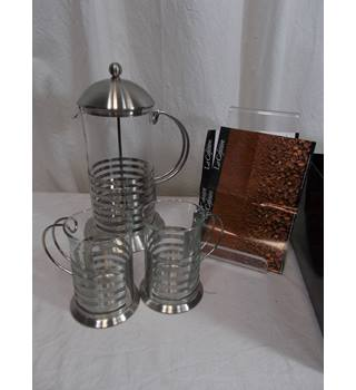 BNWT La Cafetiere Chrome 3 piece gift set