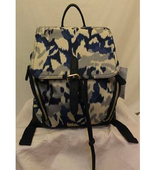 Accessorize blue patterned canvas rucksack