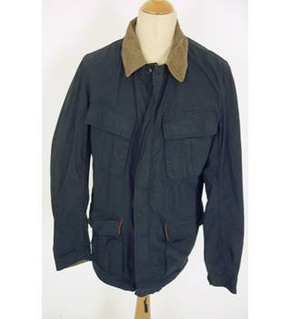 "Barbour Size: L, 42"" chest Navy Blue Casual/Country Lightweight ""Mason"" Unlined Treated Cotton Jacket"