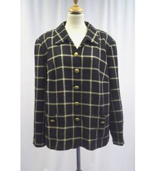 Sporting - size: 20, black and gold check, smart jacket