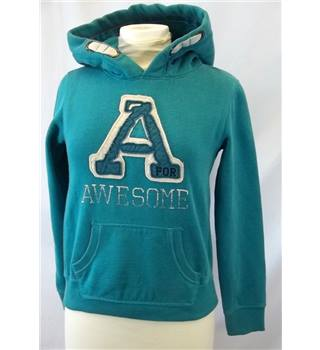 Next - Size XS - Blue with A is for Awesome print hoodie