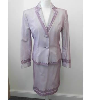 Moschino Cotton Skirt Suit in Lilac - Size: 14