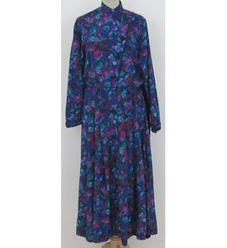 No 5 Workshop Size:L blue & turquoise afternoon dress