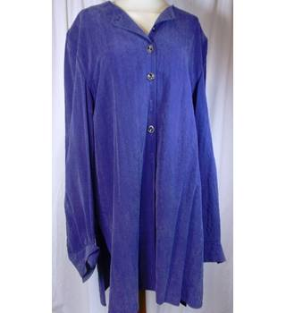 Long Tall Sally size M purple with thin black check blouse