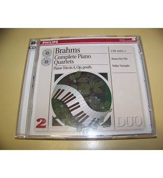 DOUBLE CD Brahms - Beaux Arts Trio, Walter Trampler ‎– Complete Piano Quartets, Piano Trio In A, Op. Posth.