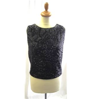 Tricotville - size: S/M , black sleeveless vintage top