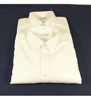 NWOT M&S Size 12-13 Years 2 Part Set School Boys White Shirts