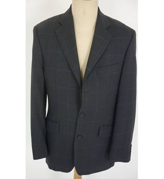 "Boden  Size: M, 38"" chest, regular fit Grey Blue Large Check Smart/Stylish Wool Single Breasted Jacket"