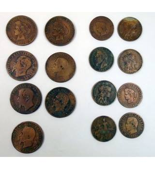 Napoleon III Five and Ten Centime Coins