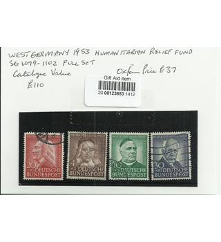 West Germany 1953 Multi-coloured