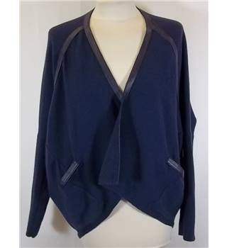 Max & Moi - Size 36 (8 UK) - Blue with front pockets open cardigan