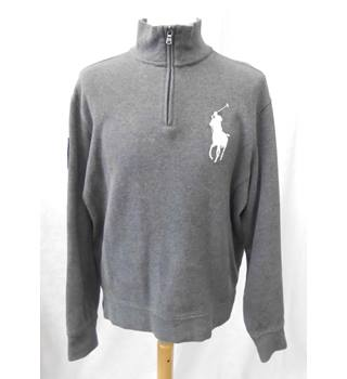 Polo - Size: M - Grey - Sweatshirt