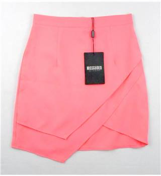BNWT Missguided  size: UK 4  coral asymmetrical mini skirt