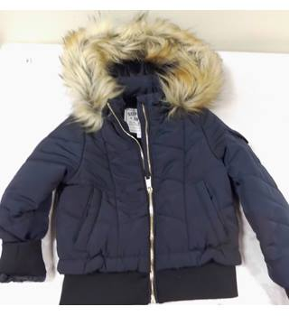M&S  quilted and lined black bomber jacket, age 3-4 yrs M&S Marks & Spencer - Size: 3 - 4 Years - Black - Bomber jacket