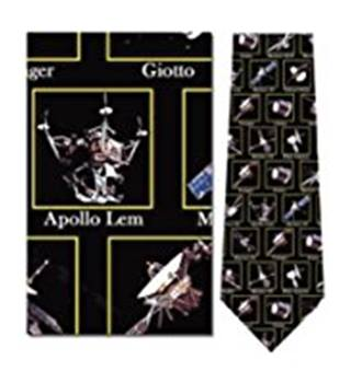 Museum Artifacts All Silk Space Toys Tie Museum Artifacts - Size: Not specified - Black - Tie