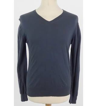 Farhi Small Dark Grey Men's V-Neck Cotton Jumper