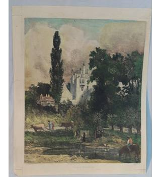 Authenticated Hampstead House Coloured Etching By H.R.Robertson 1891