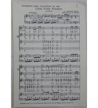 Little Polly Flinders by J. Michael Diack with apologies to Mozart. SATB. Set of 47 copies.