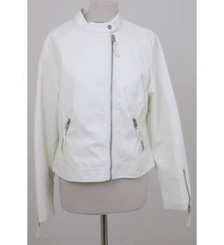 NWOT M&S Marks & Spencer - Size: 12 - Ivory - Bomber Jacket