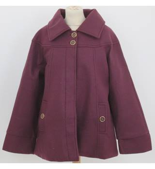 Anne De Lancay Size 14 Purple Casual Coat