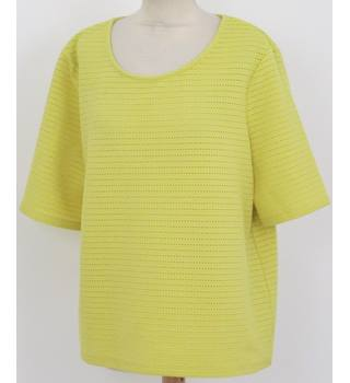Next - Size: 16 - Yellow - Short Sleeved Top