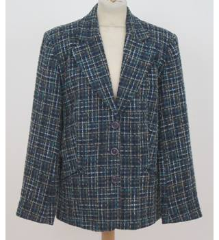 Perrie - Size: 18 -Blue and Grey Check Jacket