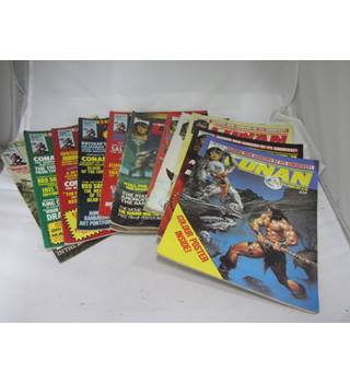 Collection of 13 Savage Sword of Conan 1982 vintage