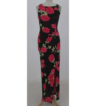 NWOT: M&S Collection Size 6: Black and red floral print maxi dress