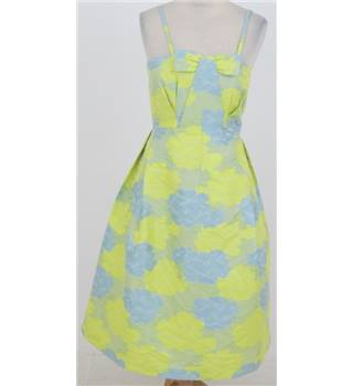 ASOS Size 10: Yellow/blue prom dress