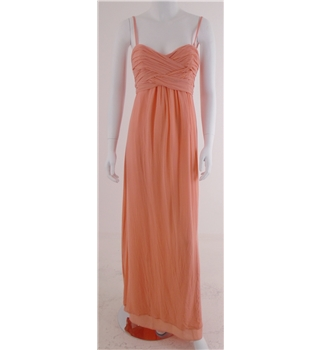 Ted Baker Size 10 Pale Orange Silk Evening dress