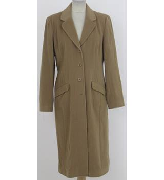 East - Size: 12 -Camel coloured classic coat