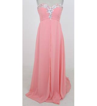 DylanQueen Size:M peach strapless evening dress