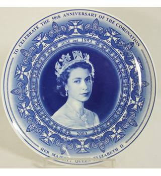 Vintage Wedgwood -The Queens 50th anniversary - Plate 2003