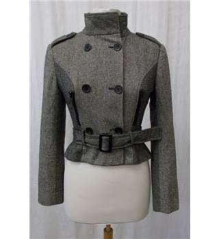 Morgan size: 8 grey belted jacket