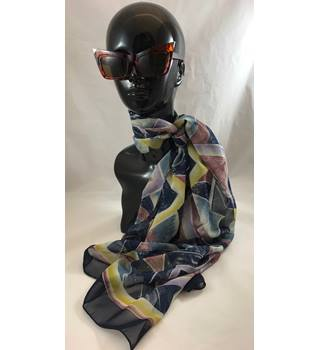Long Sheer Scarf Abstract Geometric Pattern Unbranded - Size: One size - Multi-coloured - Scarf