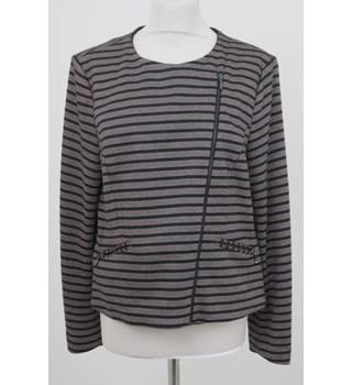 Principles - Size: 16 - Dark Pink and Black Stripped - Jacket