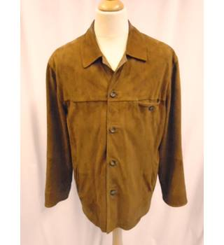 Torras - Size: M - Brown - Soft Suede - Leather trim - Jacket